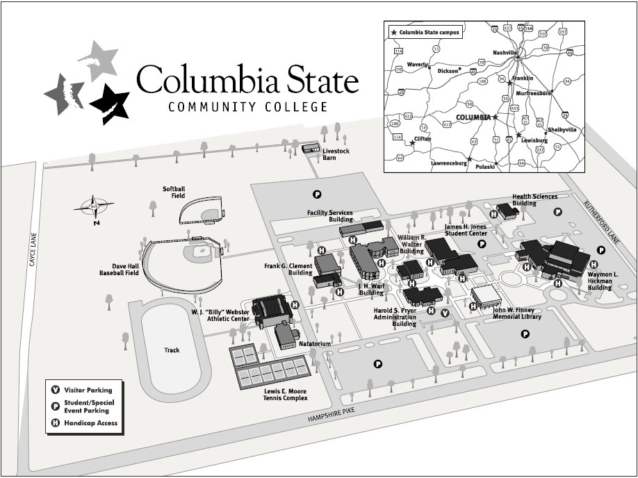 Campus Map  Columbia State Community College  Acalog ACMS